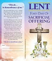 $40.00 Sacrificial Offering Lenten Dollar Bill Folder (Pkg of 50)