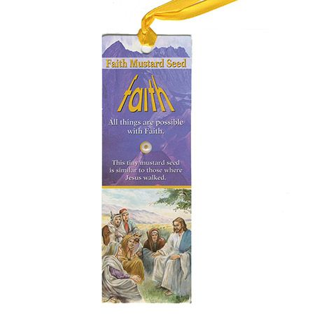 Mustard Seed Bookmarks & Ribbon (Pkg of 12)