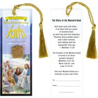 Mustard Seed Bookmark With Tassel
