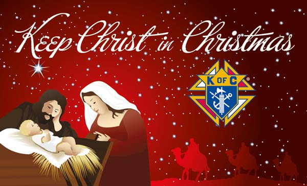 Knights of Columbus Red Keep Christ In Christmas Banner