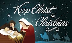 Keep Christ In Christmas Outdoor Larger Banner