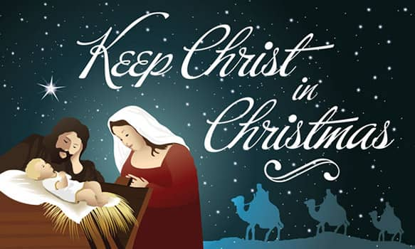keep christ in christmas outdoor banner