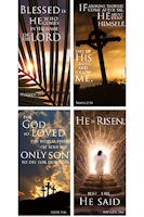 Easter Promise Church Banners Set  of 4 Large