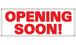 OPENING SOON banner, 3 x 10 Foot Long