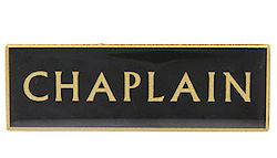 Chaplain Badge Magnetic Pin Large, Black