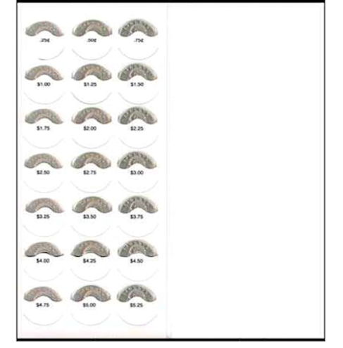 $5.00 Blank Coin Donation Folder (Pkg of 10)