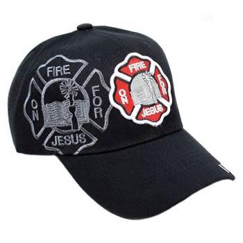 Jesus Fireman Baseball Cap - Left Side