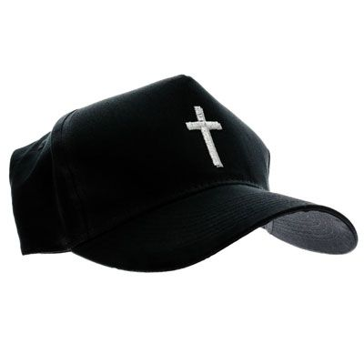 Christian Silver Cross Baseball Cap