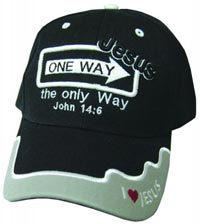 One Way Jesus Black Baseball Cap