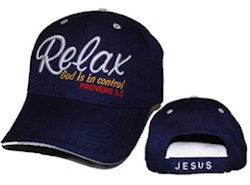 Relax God is In Control baseball Cap