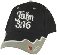 John 3:16 Black Baseball Cap