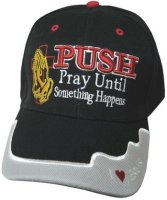 PUSH hat black