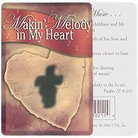 God Makin' Sharing Melody In My Heart Pocket Card