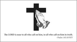 Church Prayer Request Cards Praying Hands (Pkg of 100)