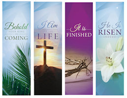 Easter Lent Season Sanctuary Banners (Set of 4)