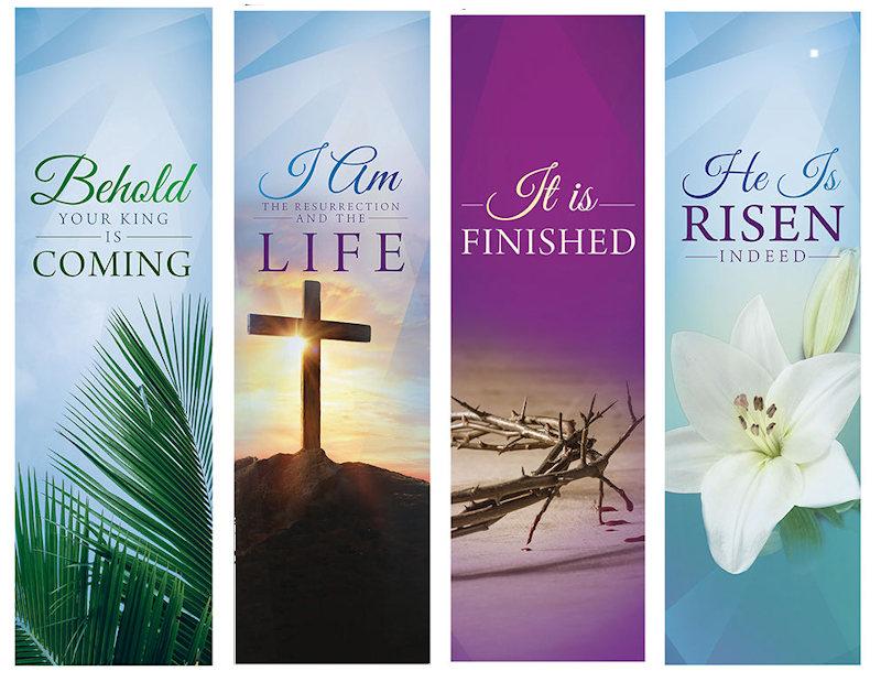 Easter Lent Season Sanctuary Banners (Set of 4)