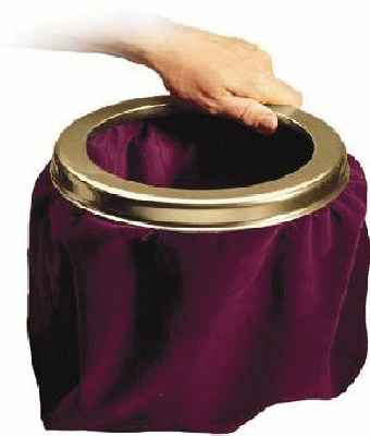 Church Offering Bag-Large  & Brass Ring Maroon