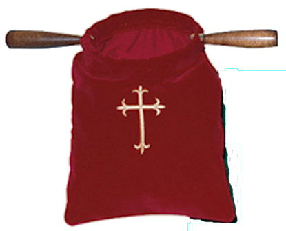 Church Offering Bags Emboidered Cross
