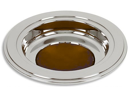 Church Offering Plate Stainless Steel  12 Inch