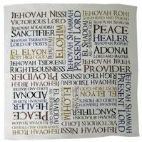 Names of God Prayer Cloth Handkerchief