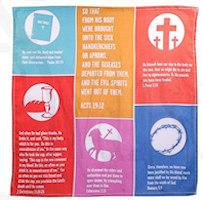 Healing Symbols Prayer Cloth Handkerchief