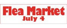 Flea Market Annoucement Outdoor Banner 3 x 8 Foot