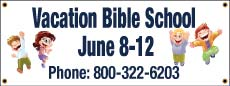 Vacation Bible School Banner 3 x 8 foot Outdoor