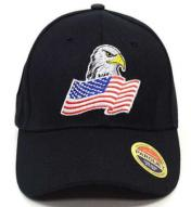 Eagle American Flag Baseball Cap Black