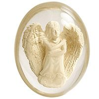 Hope Worry Angel Pocket Stone  Clear