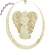 Courage Angel Pocket Stone Key Chain