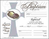 Child Baptism Certificate