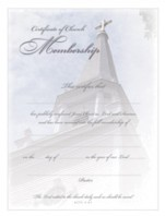 Church Deluxe Membership Certificate