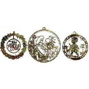Gold Metal Christmas Ornaments Photo-Etched