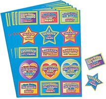 Learned My Verse Sunday School Stickers (Pkg of 12 Sheets)