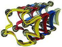 Dove shaped Tambourine in Colors
