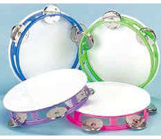 Plastic Tambourines Youth 5 1/4 inch