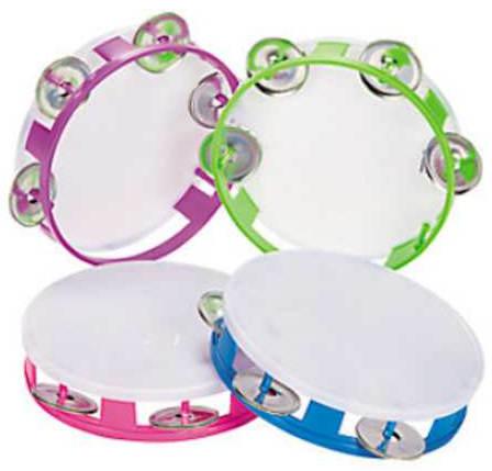 Plastic Tambourines Youth 5 1/4 inch
