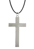 Large 2 1/2 Inch, 3 Dimensional Cross Pendant