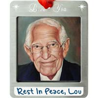 Love You Photo Ornament Pewter