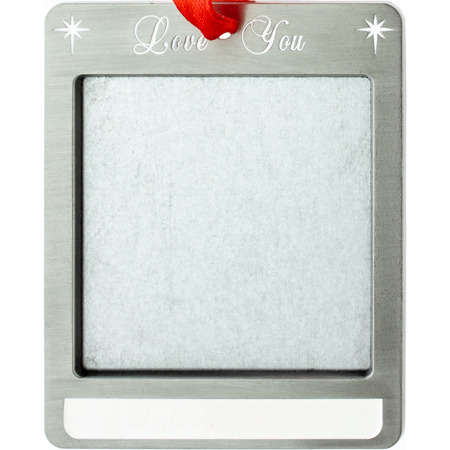 Love You Photo Christmas Ornament
