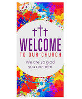Welcome to Our Church Door Banner