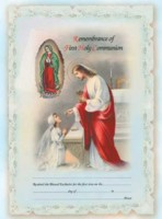 Primera Comuni�n First Communion Certificates