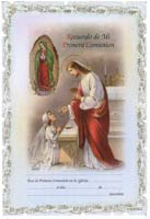 Primera Comunion (First Communion Certificates) Spanish