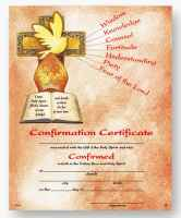 Confirmation Ceretificate Cross & Dove