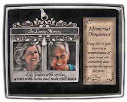 In Loving Memory Dual Photo Christmas Ornament