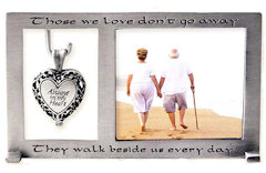 Always in My Heart Memorial Picture Frame & Locket