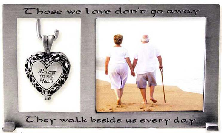 Always in My Heart Memorial Urn Picture Frame