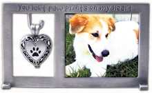 Pet Memorial Urn Metal Photo Frame