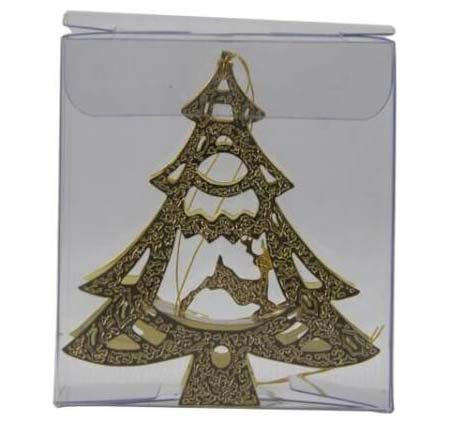 Gold Metal Holiday Ornaments Photo-Etched