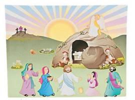 Easter He Lives Resurrection Scene Set (Pkg of 12)
